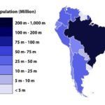South American countries by population