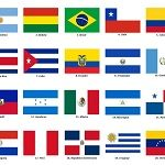 Flags of the Latin American countries