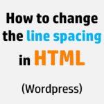 Line spacing in HTML