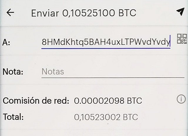 Coinbase BTC withdrawal on the phone app
